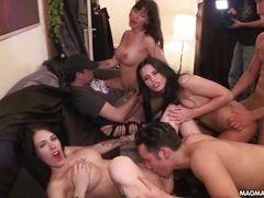 Грудастая немка в групповом сексе