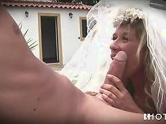 Невеста сосет член мужа