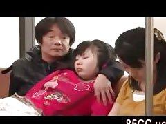реальный азиатский секс в поезде